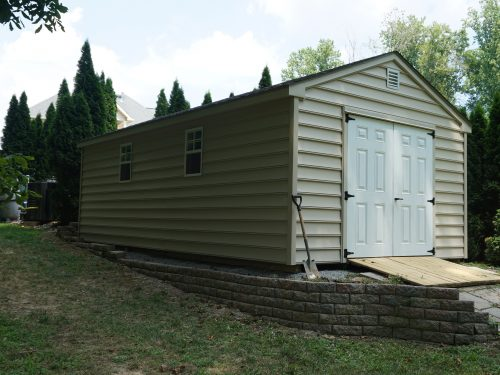 side view of one story shed