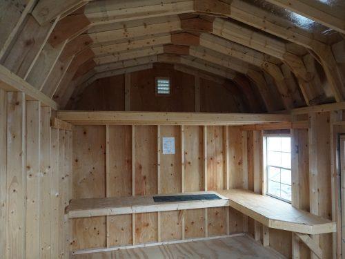 shelves in classic dutch barn