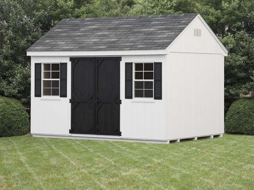 white and black cape shed