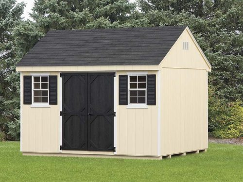 yellow and black trim cape shed