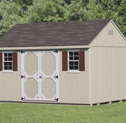 vinyl sided storage shed