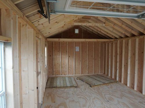 interior of classic cottage garage