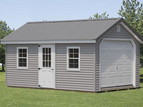 gray classic cottage garage