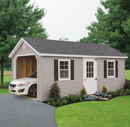 tan vinyl classic cottage garage