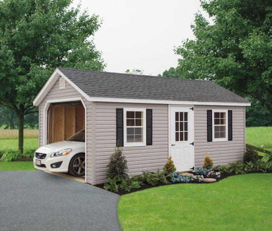 tan vinyl classic cottage garage