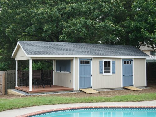 light blue and tan custom classic cottage