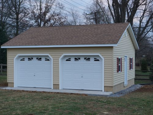 small two car garage