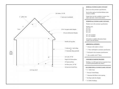 custom classic cottage floor plan