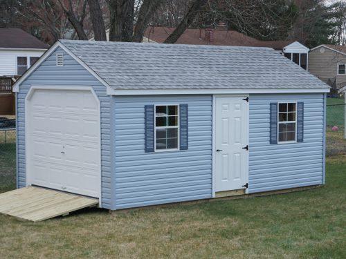 light blue cape garage