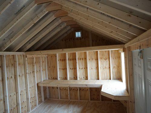 interior shelf in cape shed