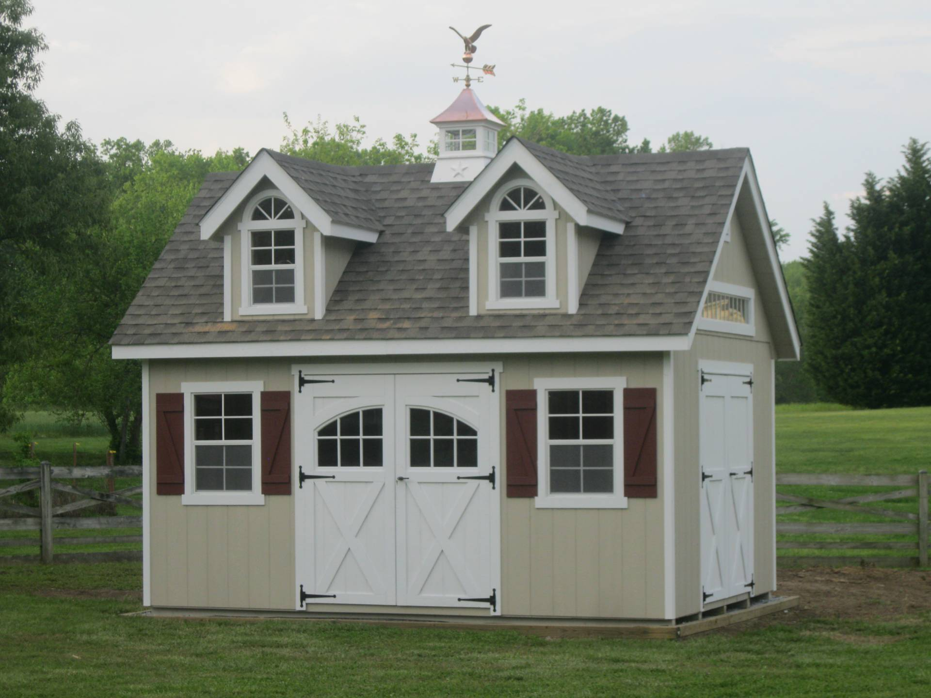 cupola on outdoor shed