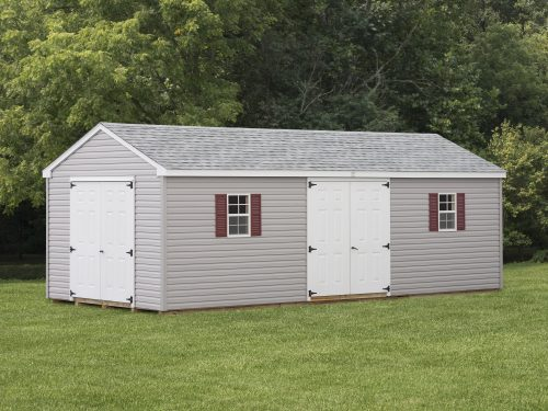 long gray vinyl cottage shed