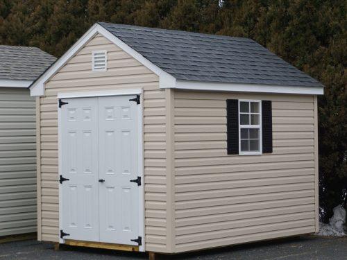 tan vinyl cape shed