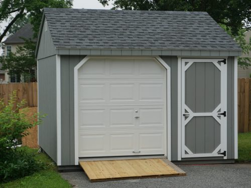 gray vinyl cape garage