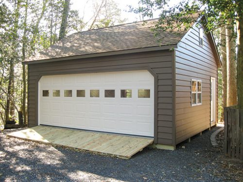 wide two car garage