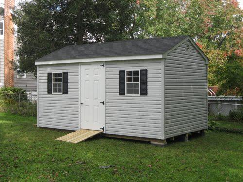 gray vinyl cottage shed